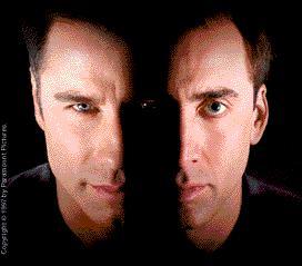 Cage and Travolta